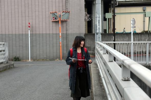 橋の上で合流