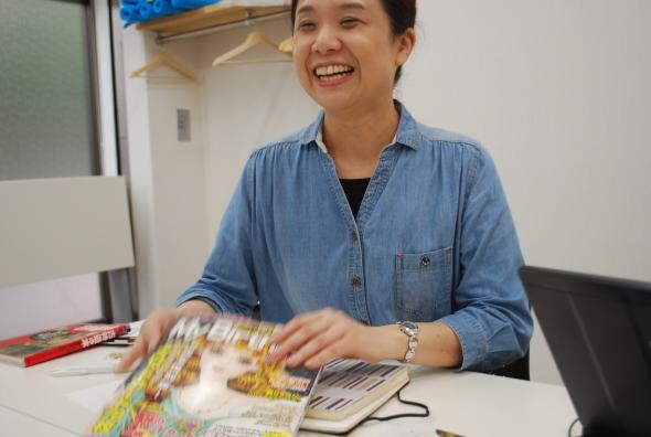 田中さんは笑顔がとてもすてき