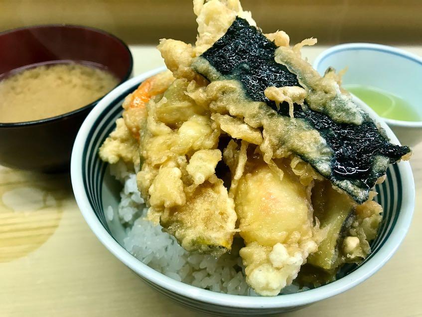 天ぷらいもやの天丼